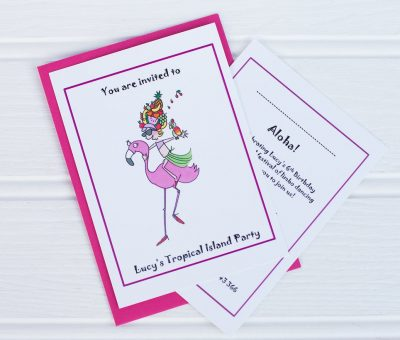 Tropical Island Party Invites