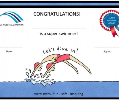 Let's Dive In! swim certificates